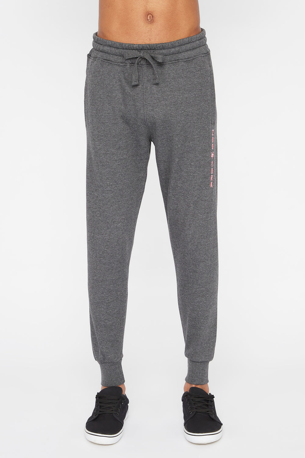 Zoo York Mens Embroidered Logo Jogger Charcoal