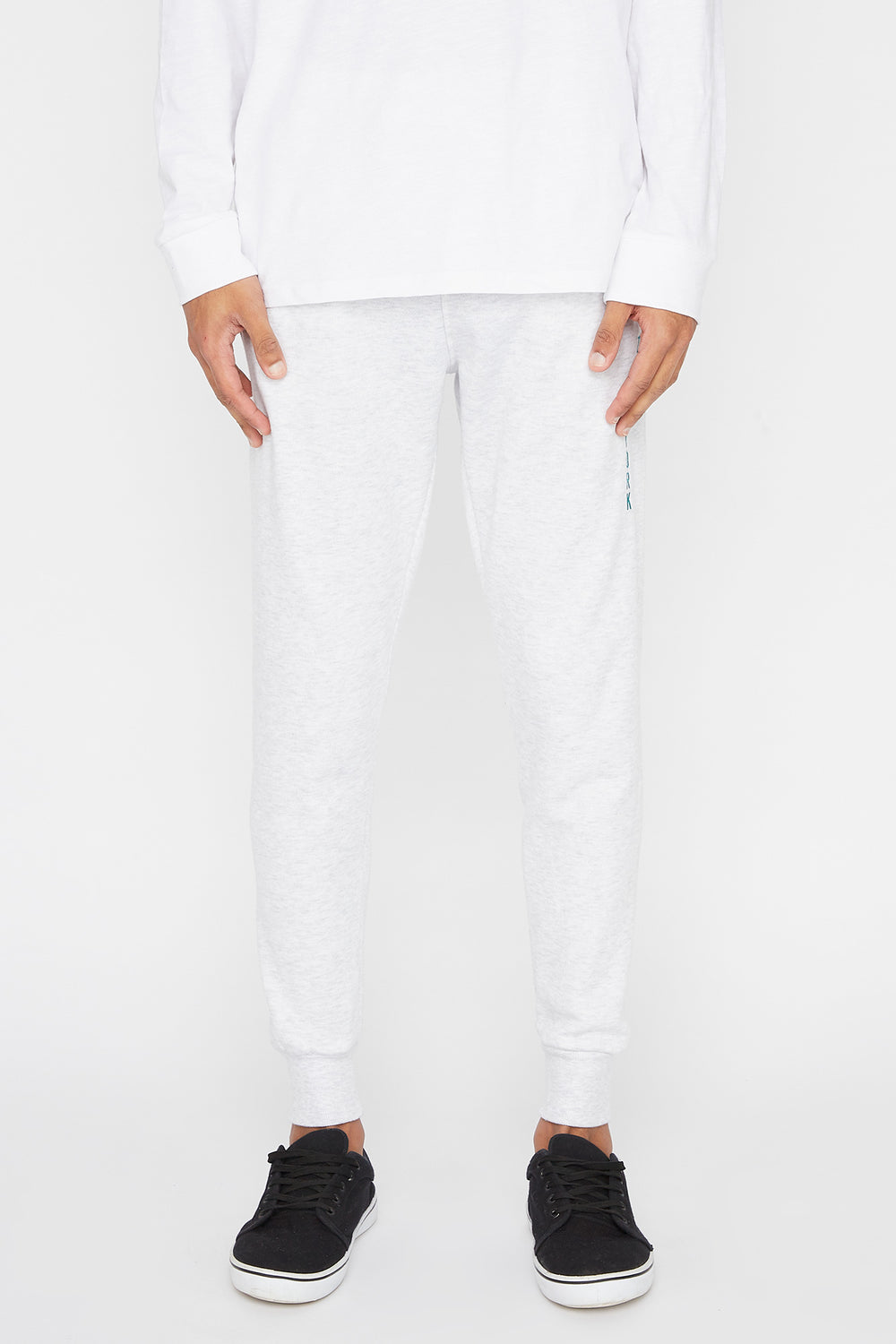 Zoo York Mens Embroidered Logo Jogger Oatmeal
