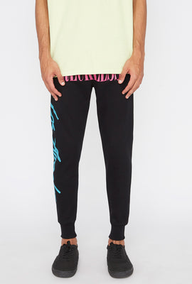 Young & Reckless Mens Retro Script Jogger