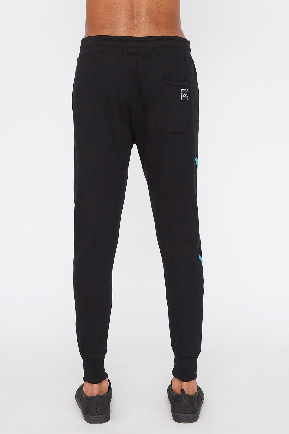 Young & Reckless Mens Retro Script Jogger Black