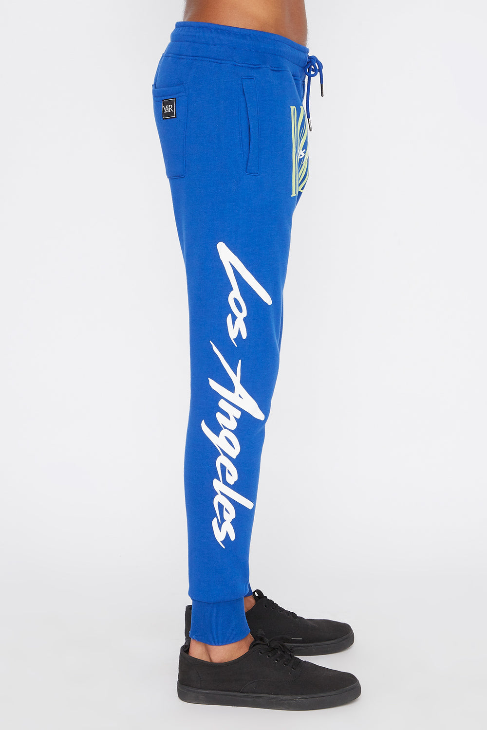 Jogger Logo Retro Young & Reckless Homme Bleu