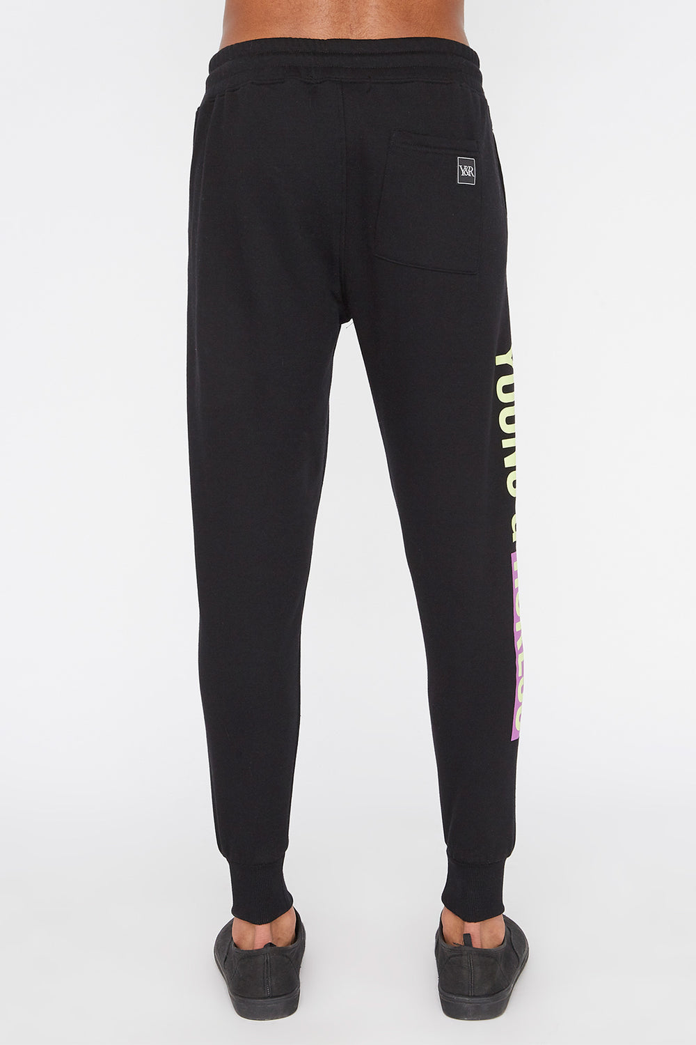 Young & Reckless Mens Neon Jogger Black
