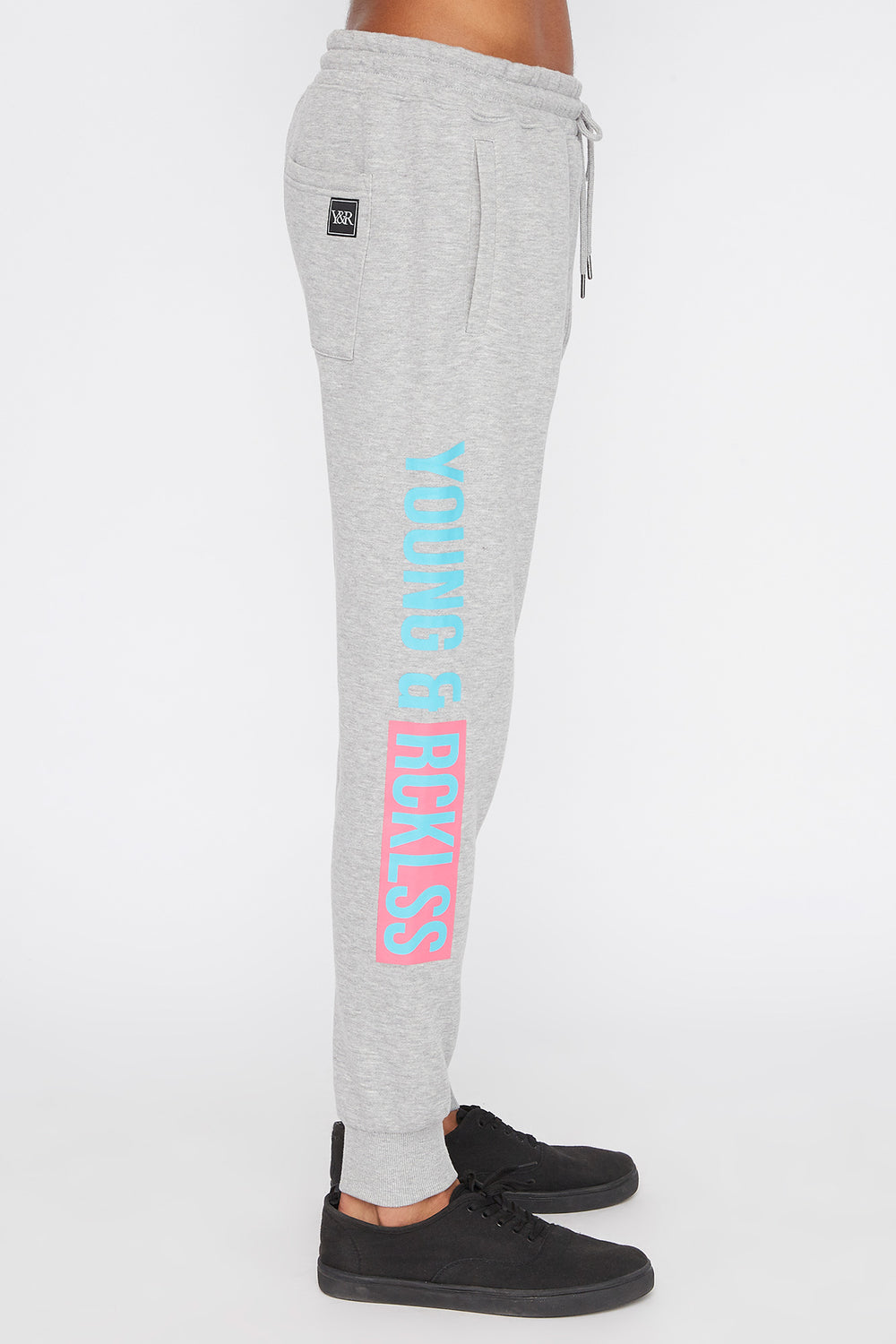 Young & Reckless Mens Neon Jogger Heather Grey