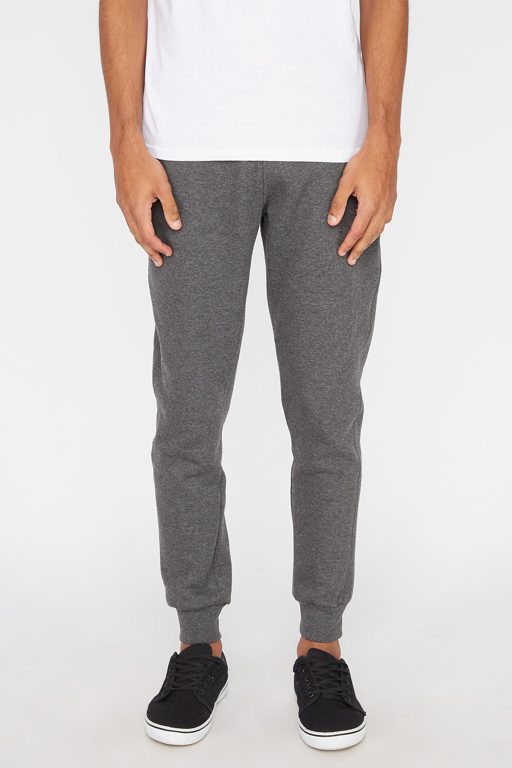 Young & Reckless Mens Neon Accent Joggers Charcoal
