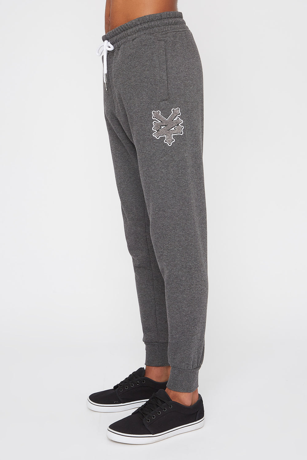 Zoo York Mens Chenille Patch Logo Joggers Charcoal