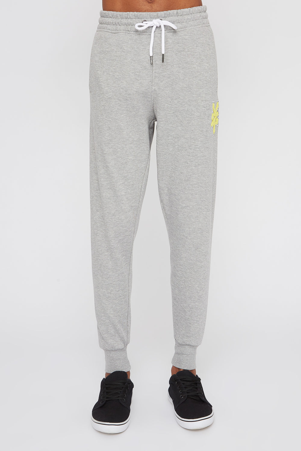 Zoo York Mens Chenille Patch Logo Joggers Heather Grey