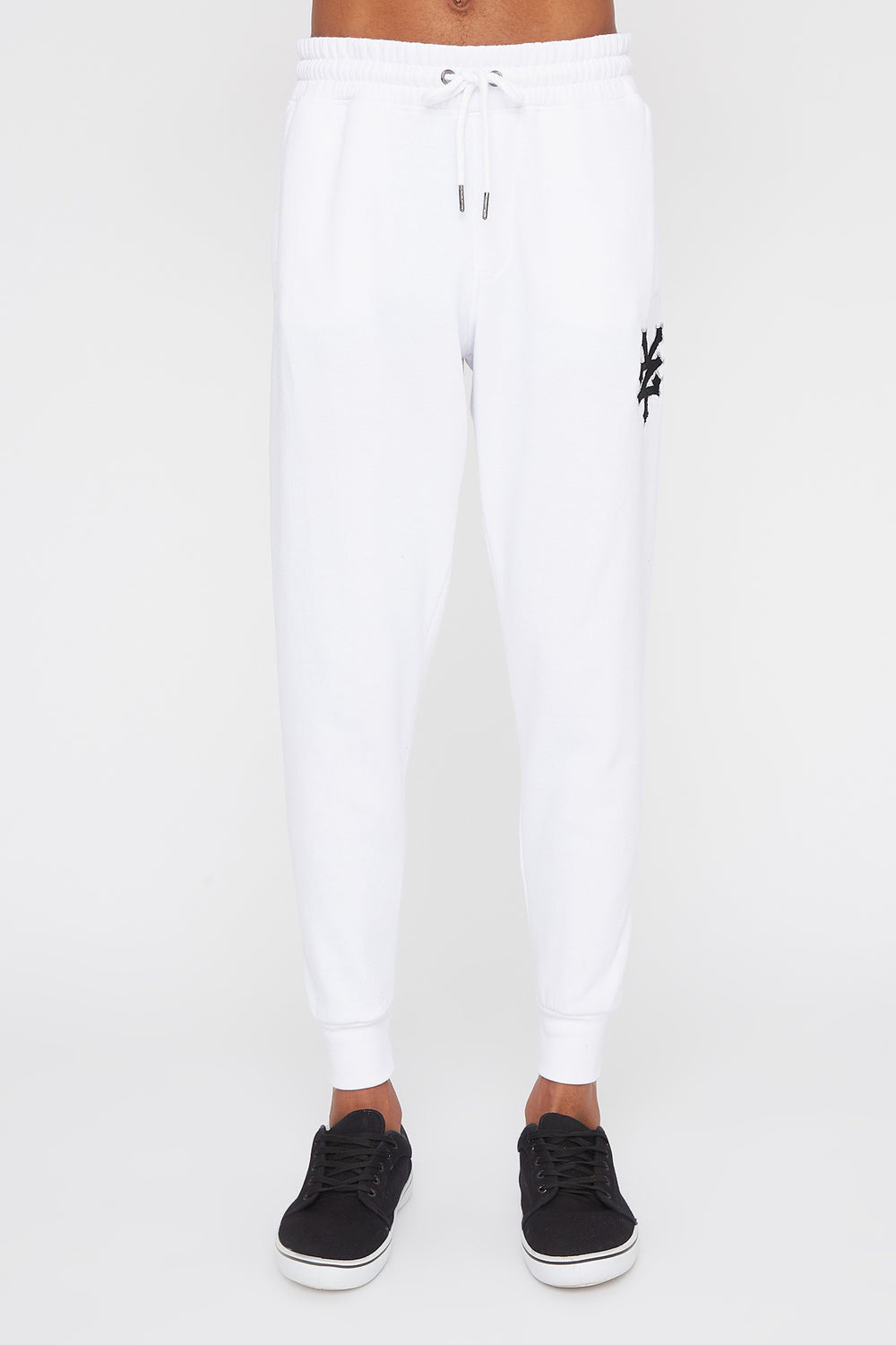 Jogger Logo Patch En Chenille Zoo York Homme Blanc