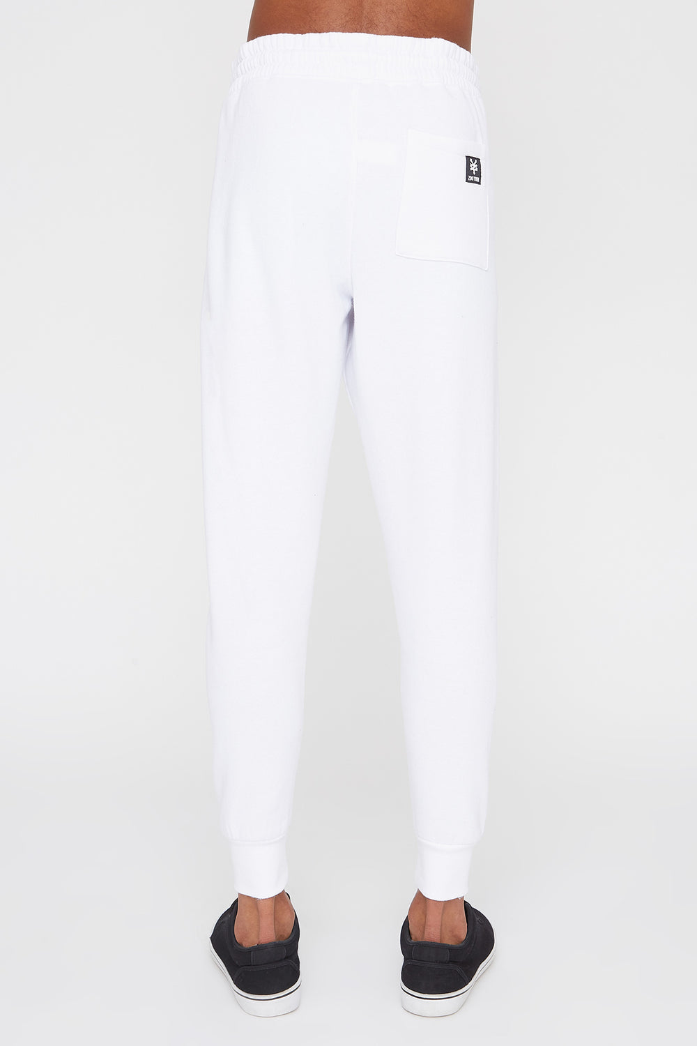 Zoo York Mens Chenille Patch Logo Joggers White