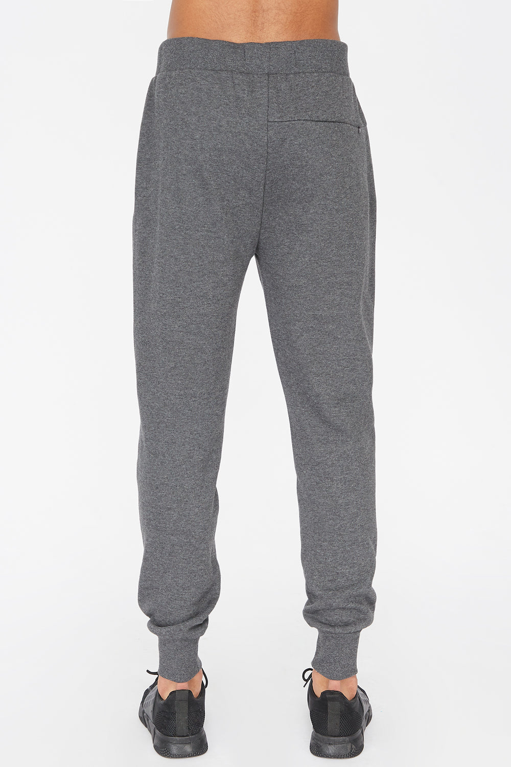 West49 Mens Solid Moto Jogger Charcoal