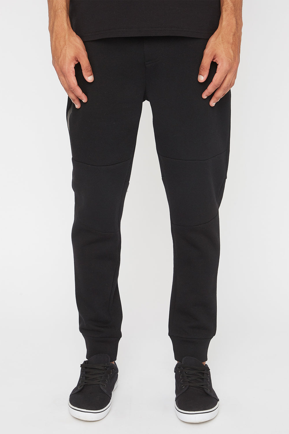 West49 Mens Zip Jogger Black