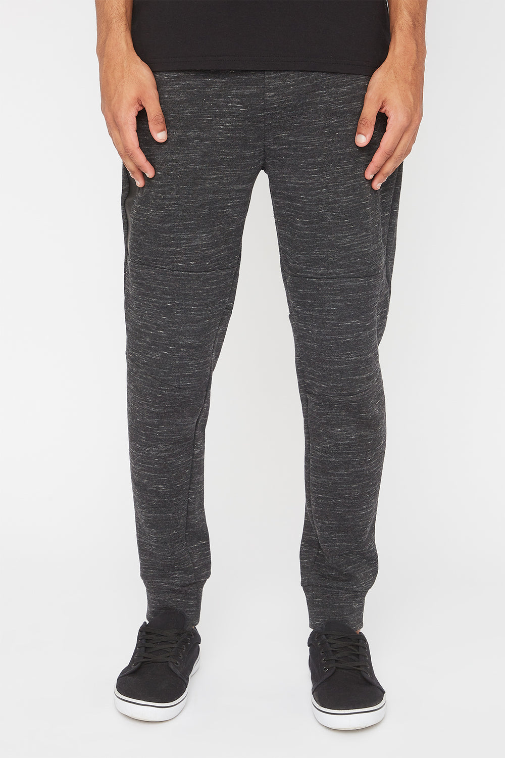 West49 Mens Zip Jogger Charcoal