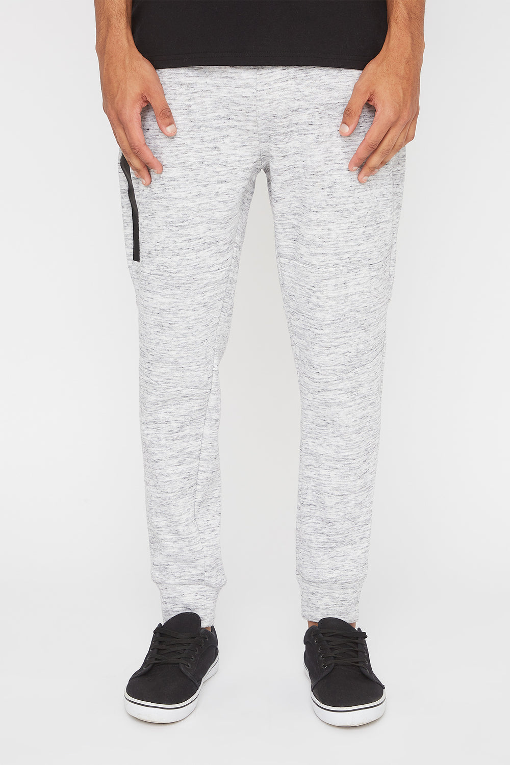 West49 Mens Zip Jogger Heather Grey