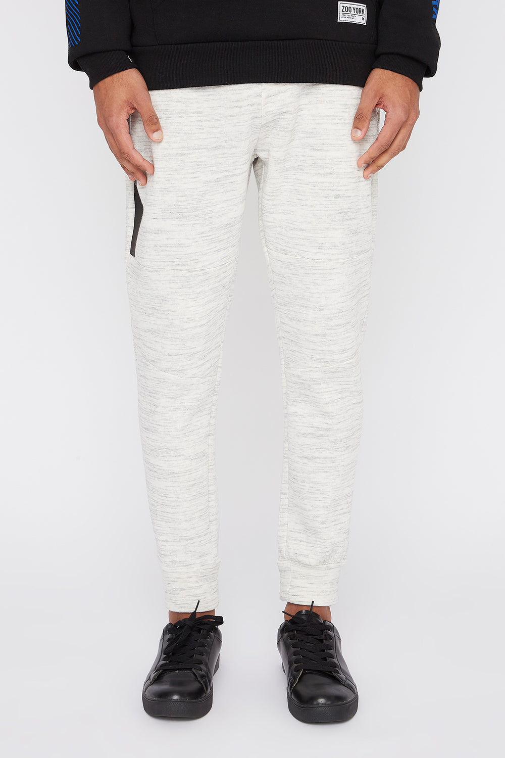 West49 Mens Zip Jogger Oatmeal