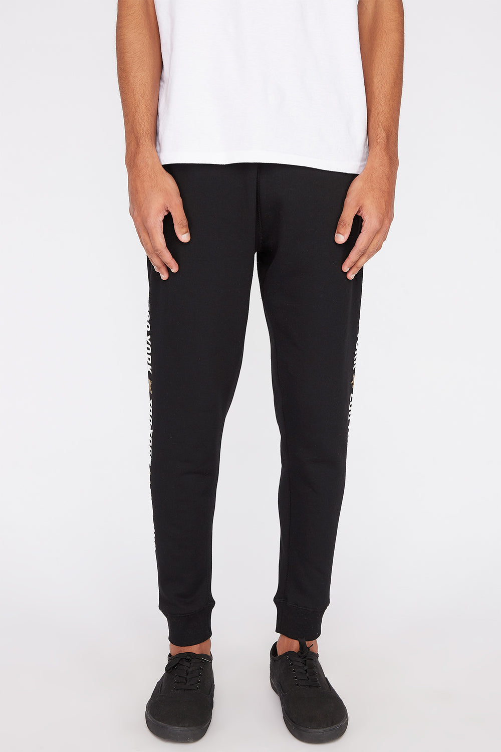 Zoo York Mens Basic Logo Jogger Black