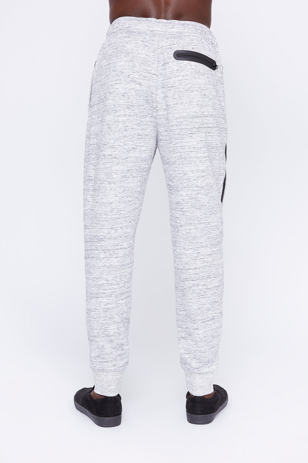 West49 Mens Spacedye Jogger Heather Grey