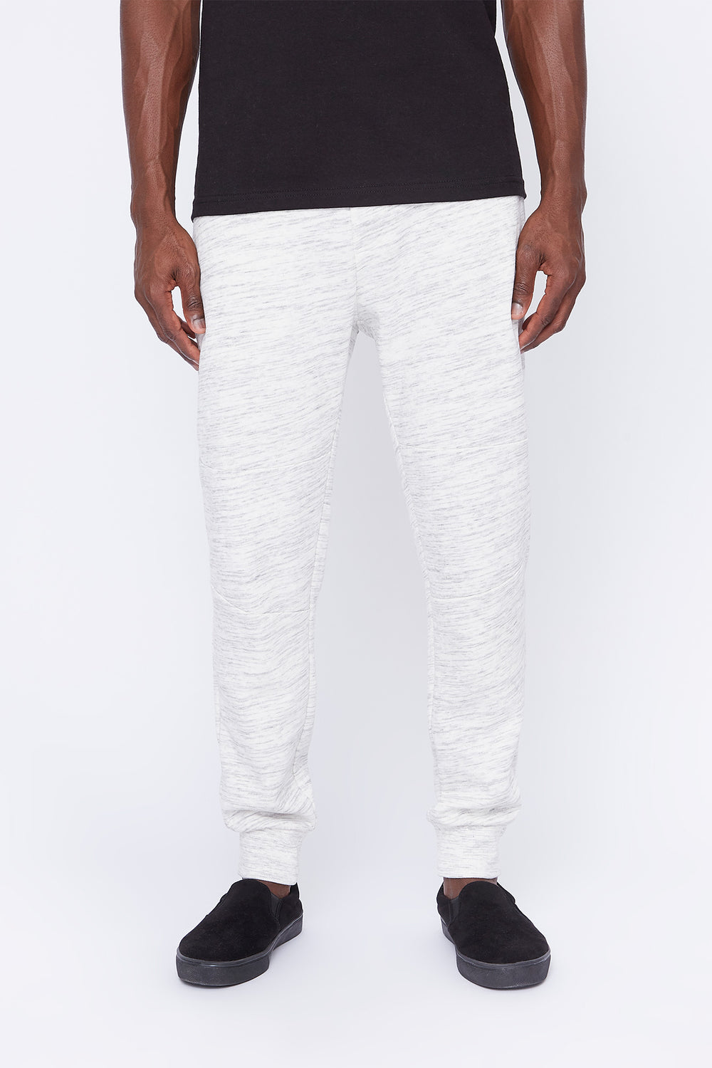 West49 Mens Spacedye Jogger Oatmeal