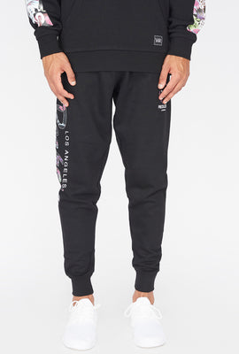 Young & Reckless Mens Floral Fill Logo Jogger