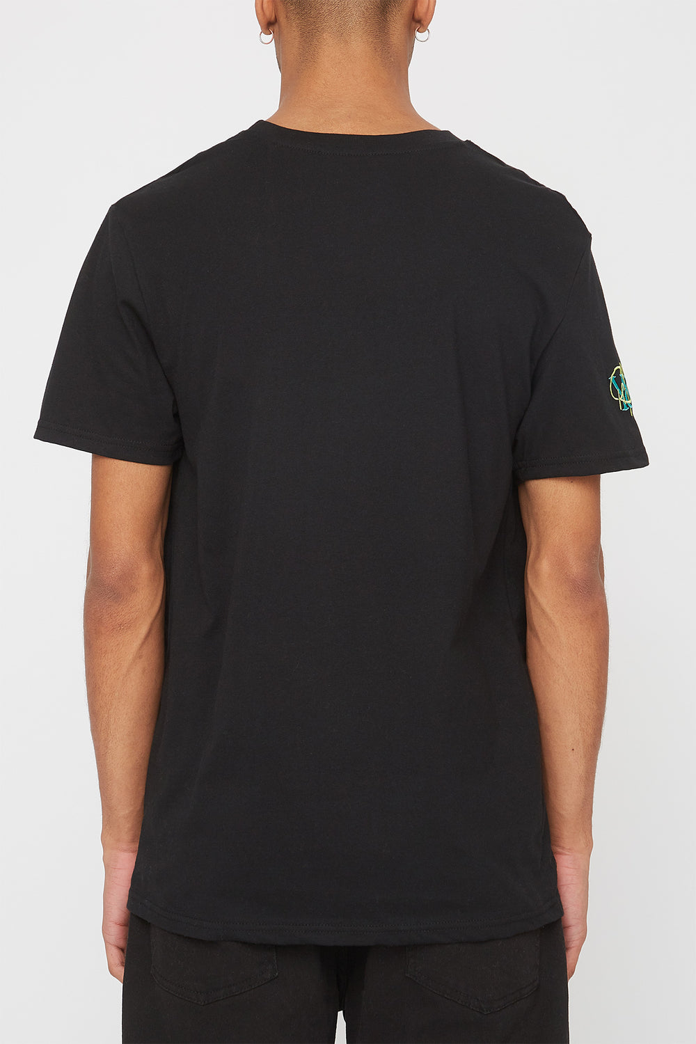 T-Shirt Logos Brodés Young & Reckless Homme Noir