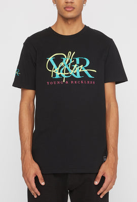 T-Shirt Logos Brodés Young & Reckless Homme