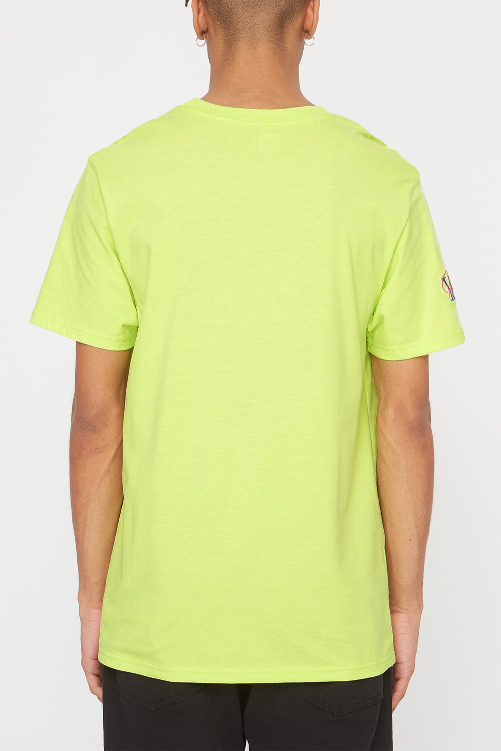Young & Reckless Mens Embroidered Logo T-Shirt Neon Green