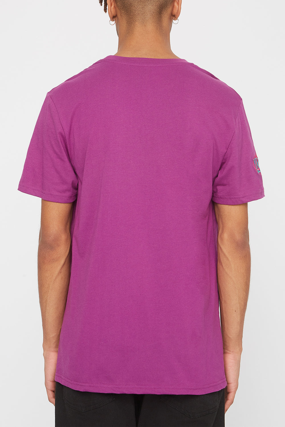 Young & Reckless Mens Embroidered Logo T-Shirt Eggplant