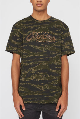 Young & Reckless Mens Camo & Neon T-Shirt