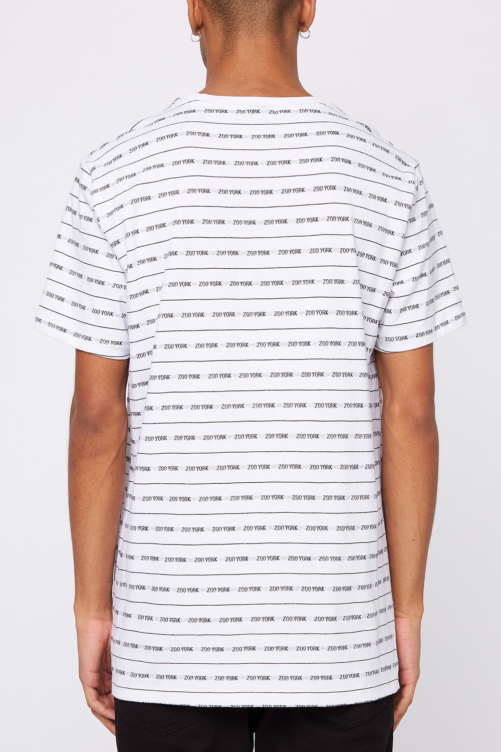 Zoo York Mens Jacquard Striped T-Shirt White