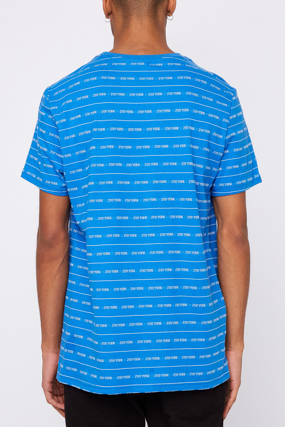 Zoo York Mens Jacquard Striped T-Shirt Blue