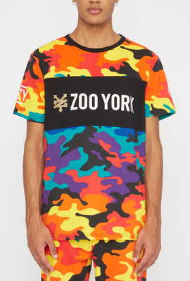T-Shirt Camouflage Multicolore Zoo York Homme