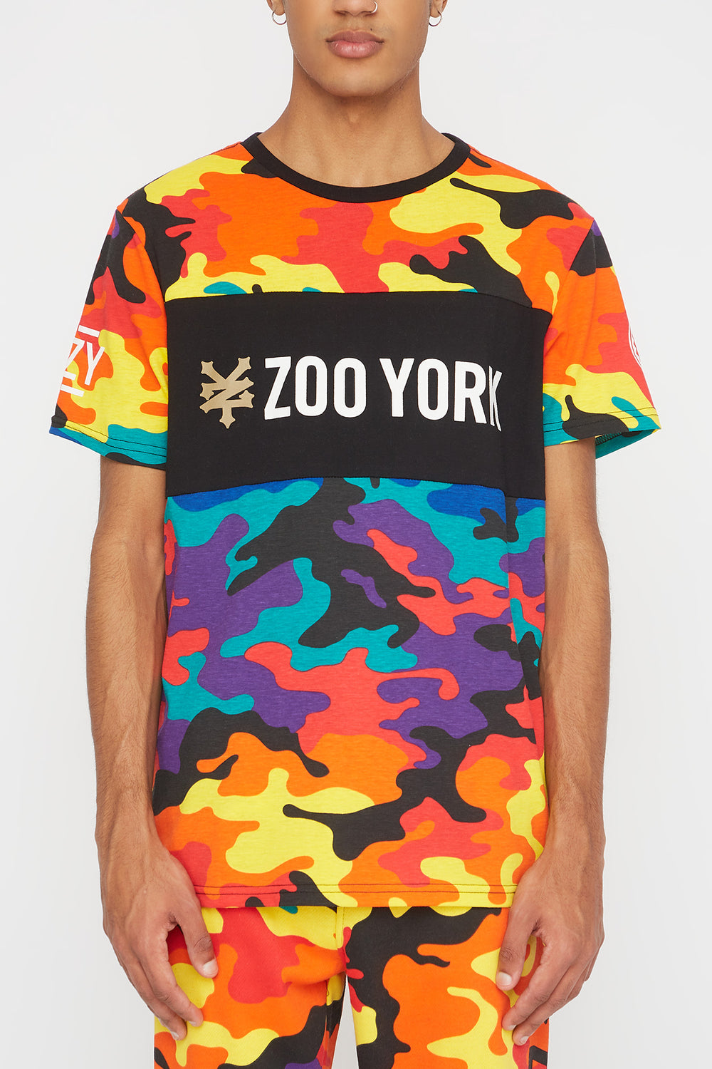 T-Shirt Camouflage Multicolore Zoo York Homme Multi