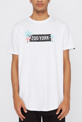 Zoo York Mens Pink Flamingo Logo T-Shirt