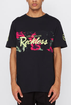 T-Shirt Floral Fluo Young & Reckless Homme