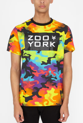 Zoo York Mens Rainbow Camo T-Shirt