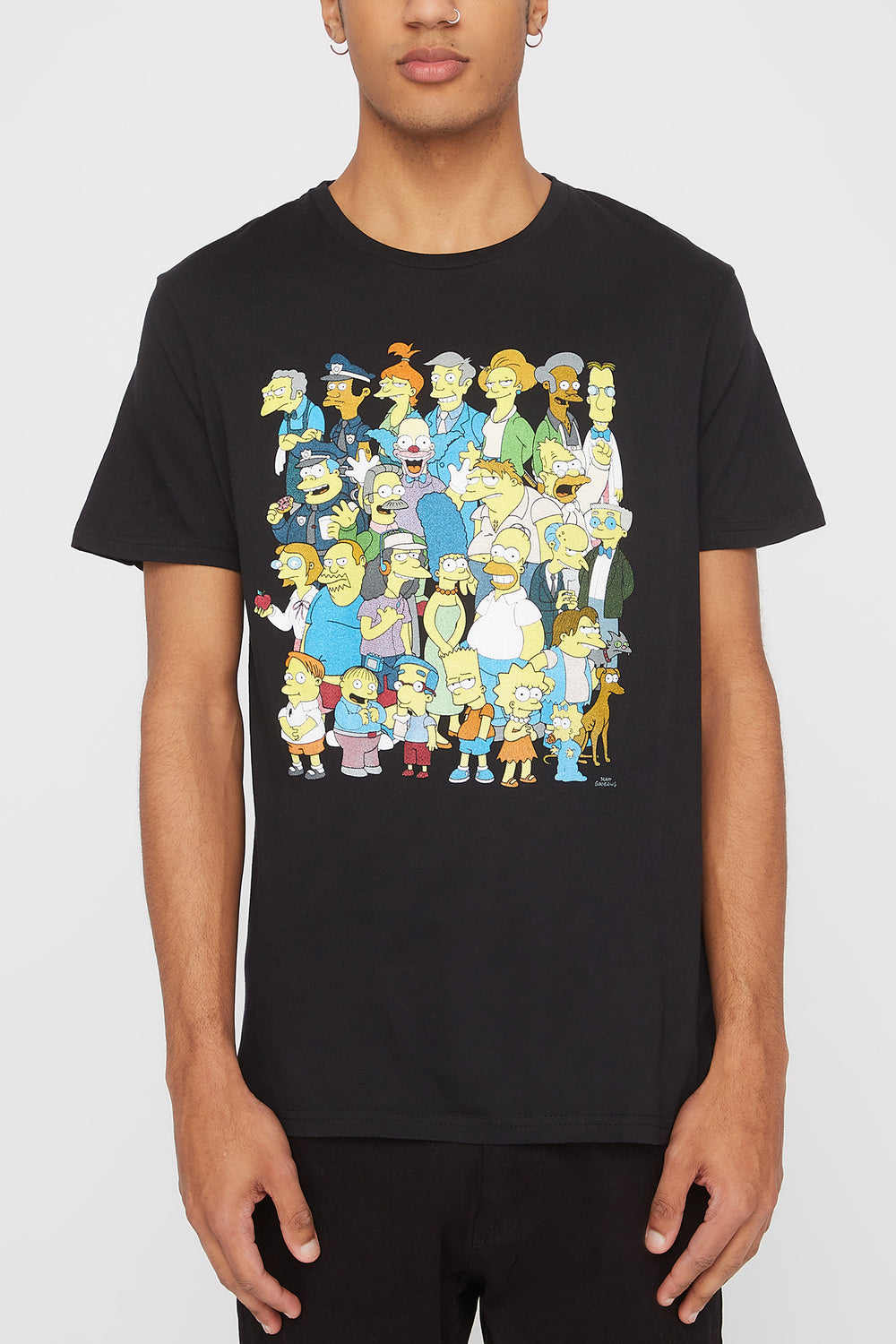The Simpsons Mens Graphic T-Shirt Black