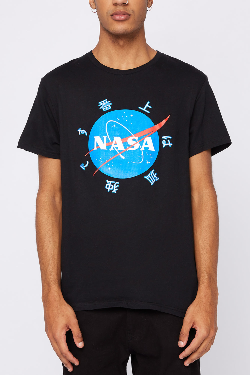 NASA Mens T-Shirt Black
