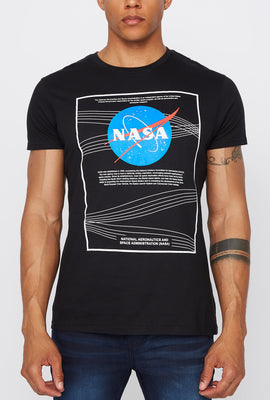 Mens NASA Logo Black T-Shirt