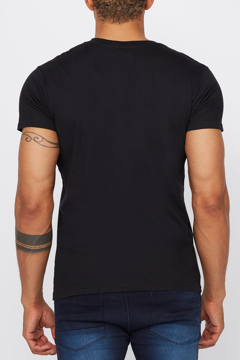 Mens NASA Logo Black T-Shirt Black