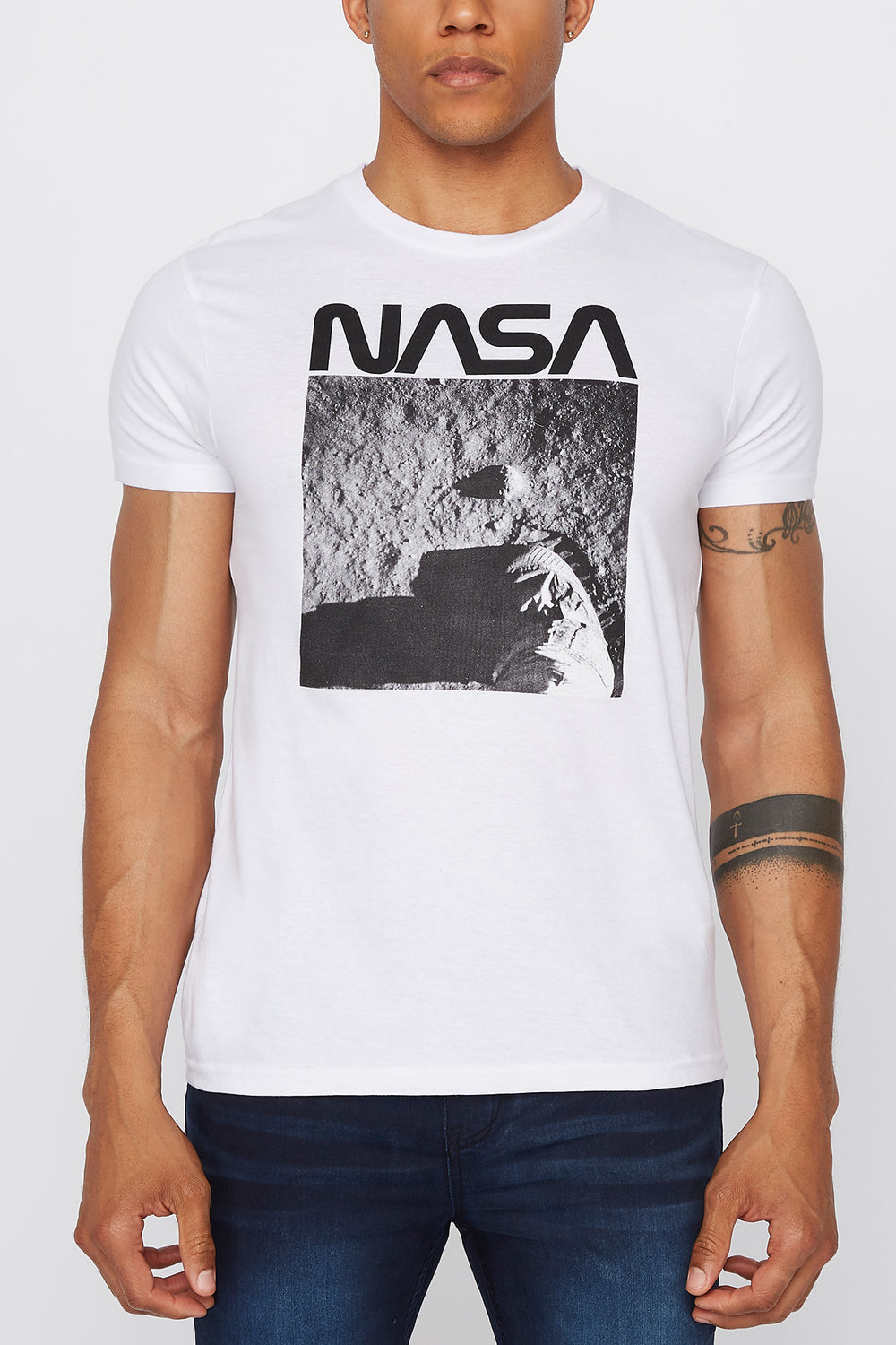 T-Shirt NASA Homme Blanc
