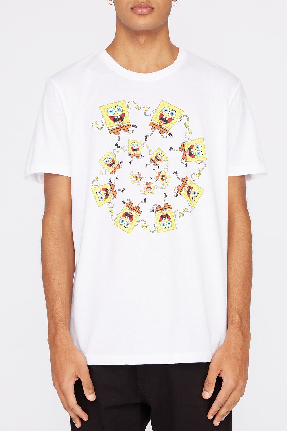 Mens Spongebob Squarepants Graphic T-Shirt White