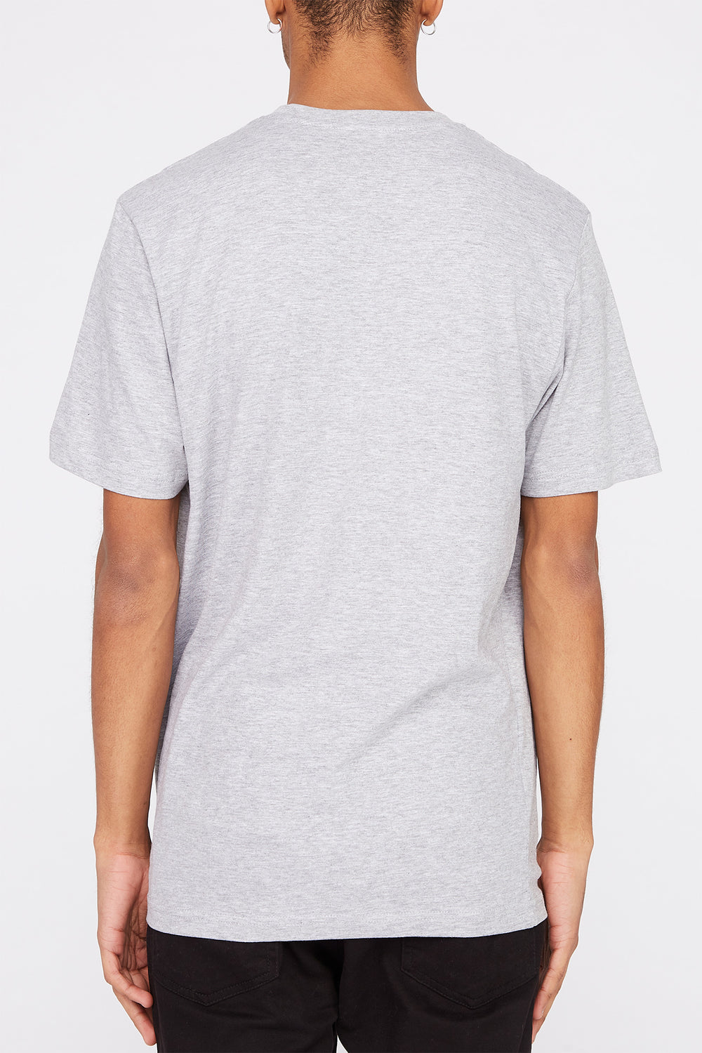 Mens Polaroid Graphic T-Shirt Heather Grey
