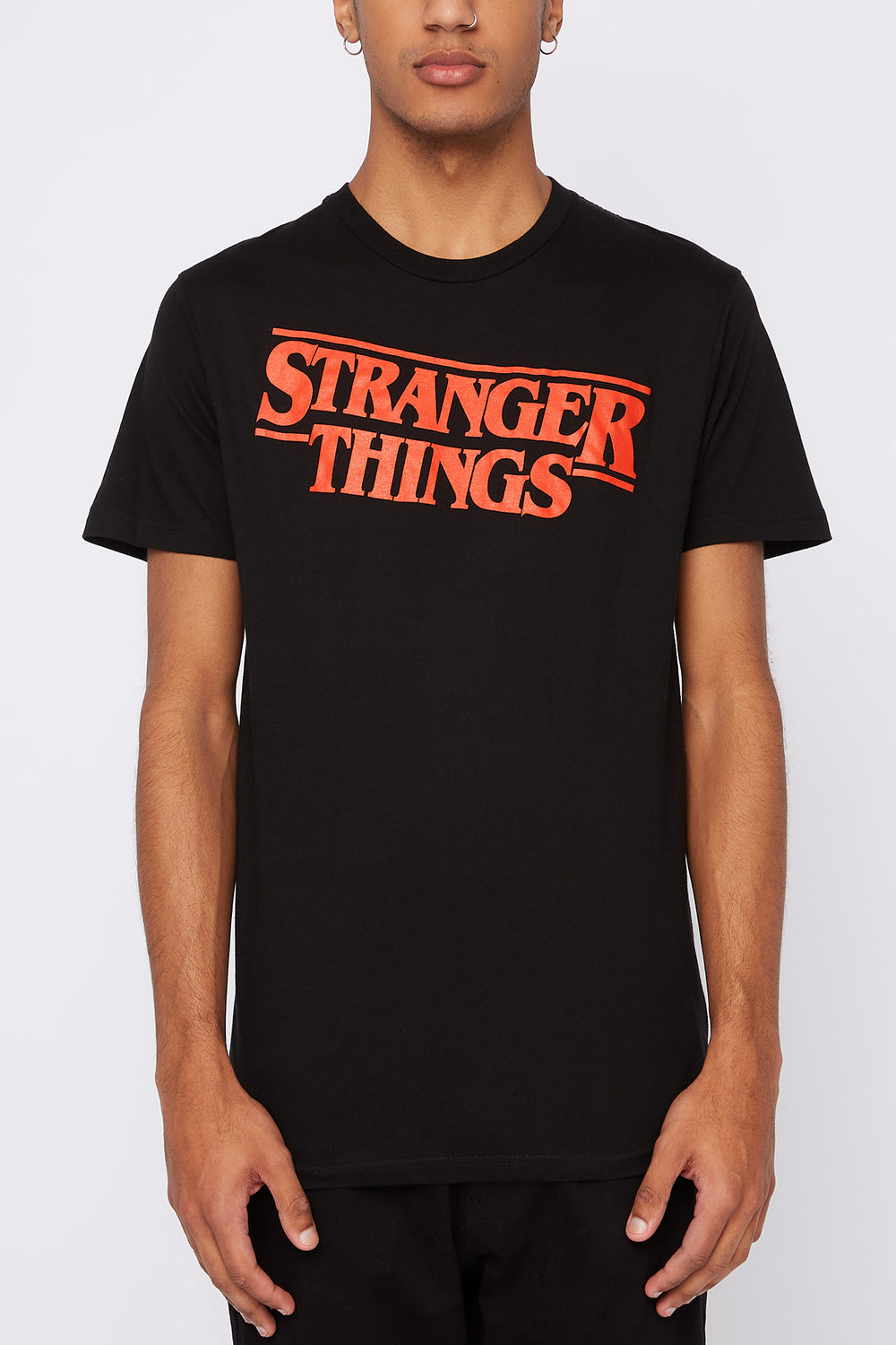Stranger Things Mens T-Shirt Black