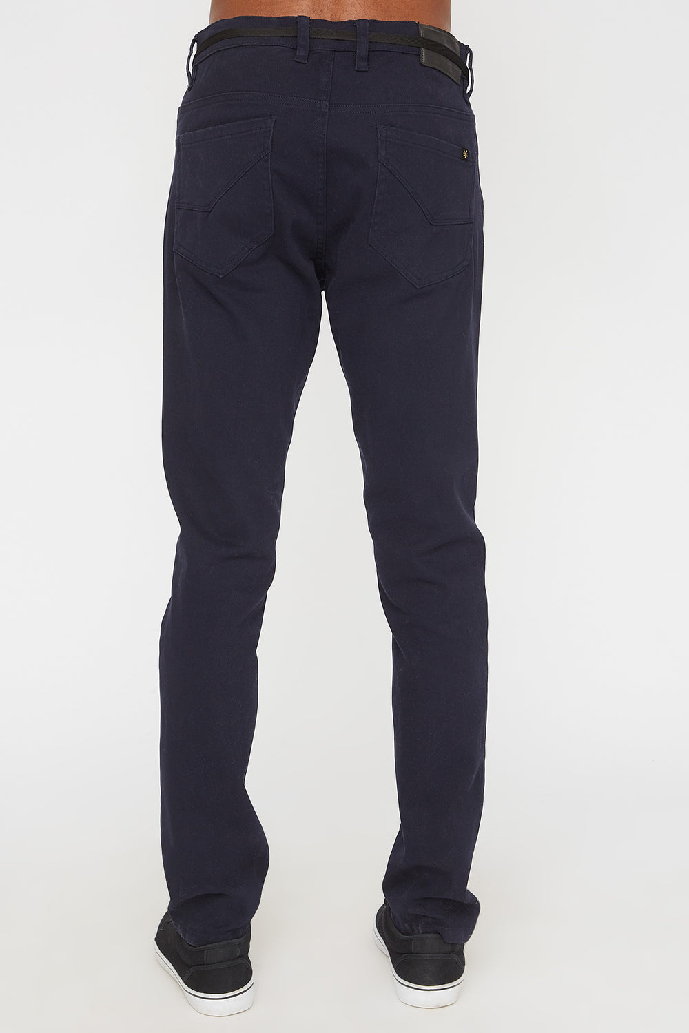 Zoo York Mens Stretch Skinny Colour Jeans Navy