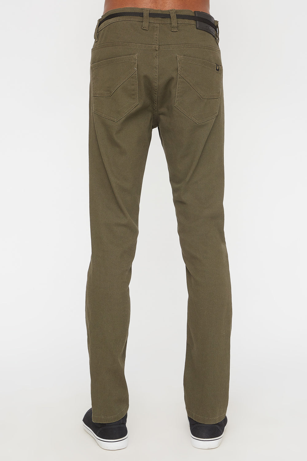 Zoo York Mens Stretch Skinny Colour Jeans Khaki