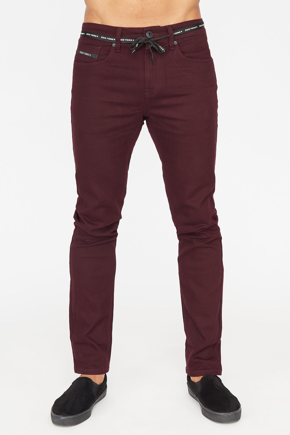 Zoo York Mens Skinny Jeans Burgundy