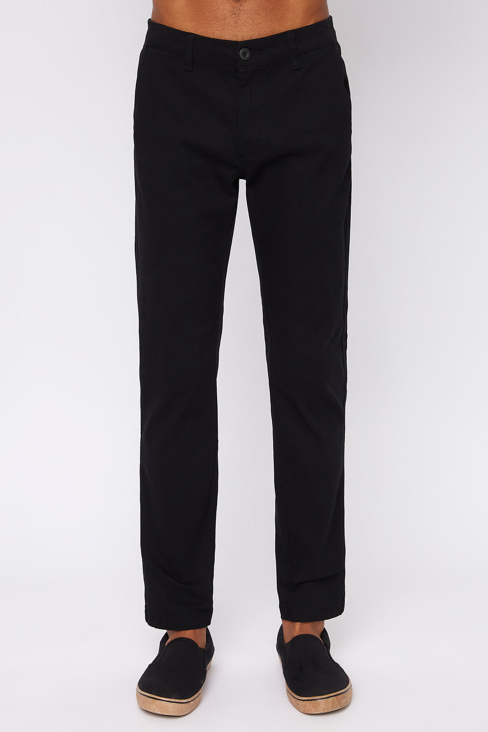 Pantalon Chino West49 Homme Noir
