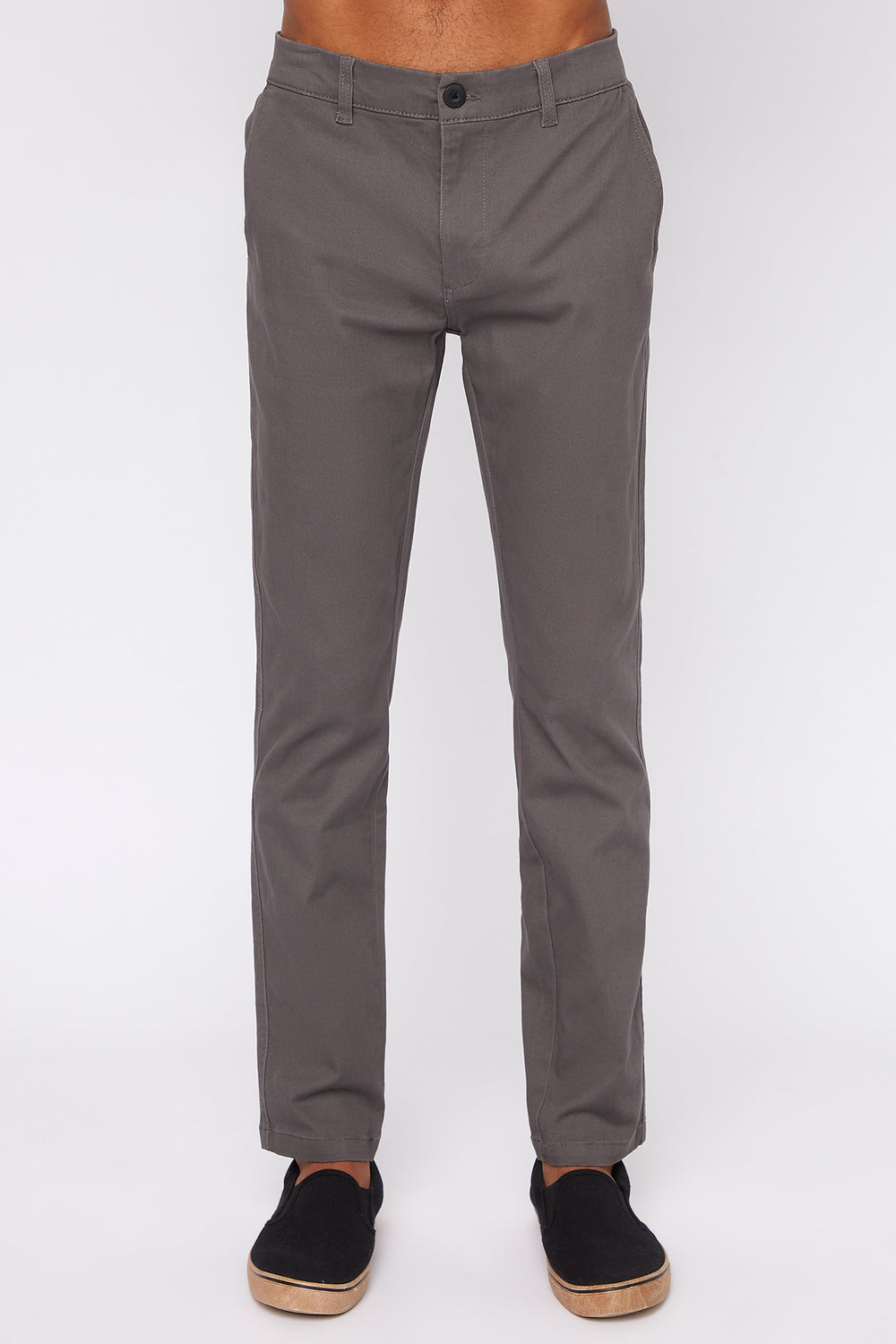 Pantalon Chino West49 Homme Gris fonce