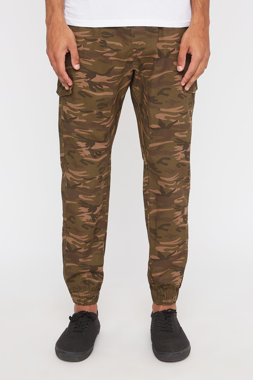 West49 Mens Camo Cargo Jogger Camouflage