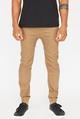 Zoo York Mens Solid Twill Zip Jogger