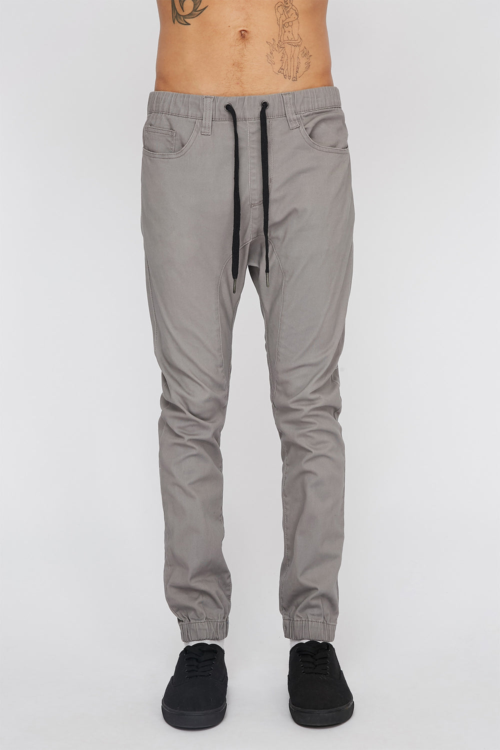 Zoo York Mens 5-Pocket Jogger Heather Grey