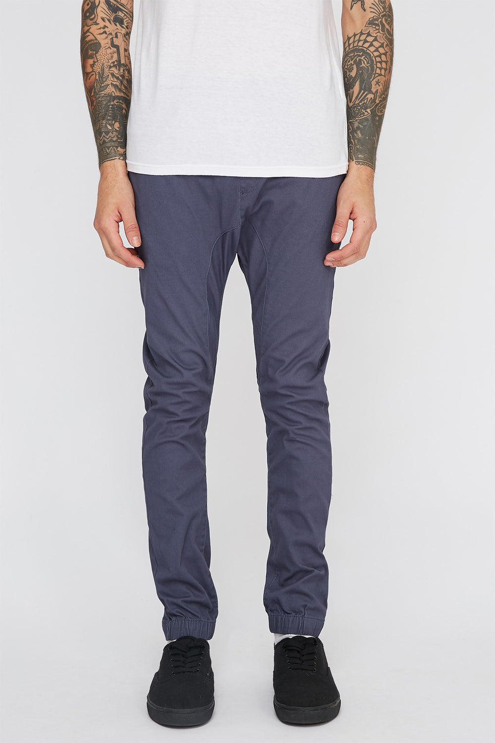 Zoo York Mens 5-Pocket Jogger Silver